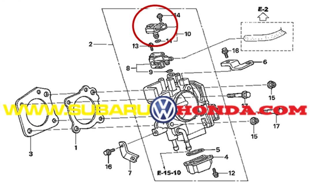 Sensor map honda cr v 2005 repuesto original aqu for Honda sensing crv