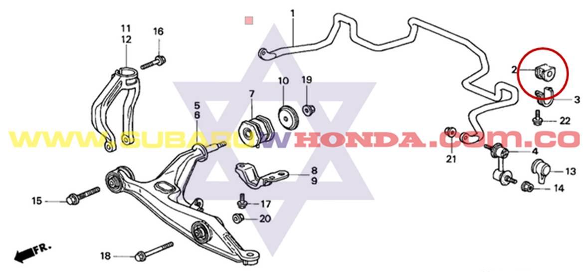 Bujes Delanteros Barra Estabilizadora Honda Crv 1998