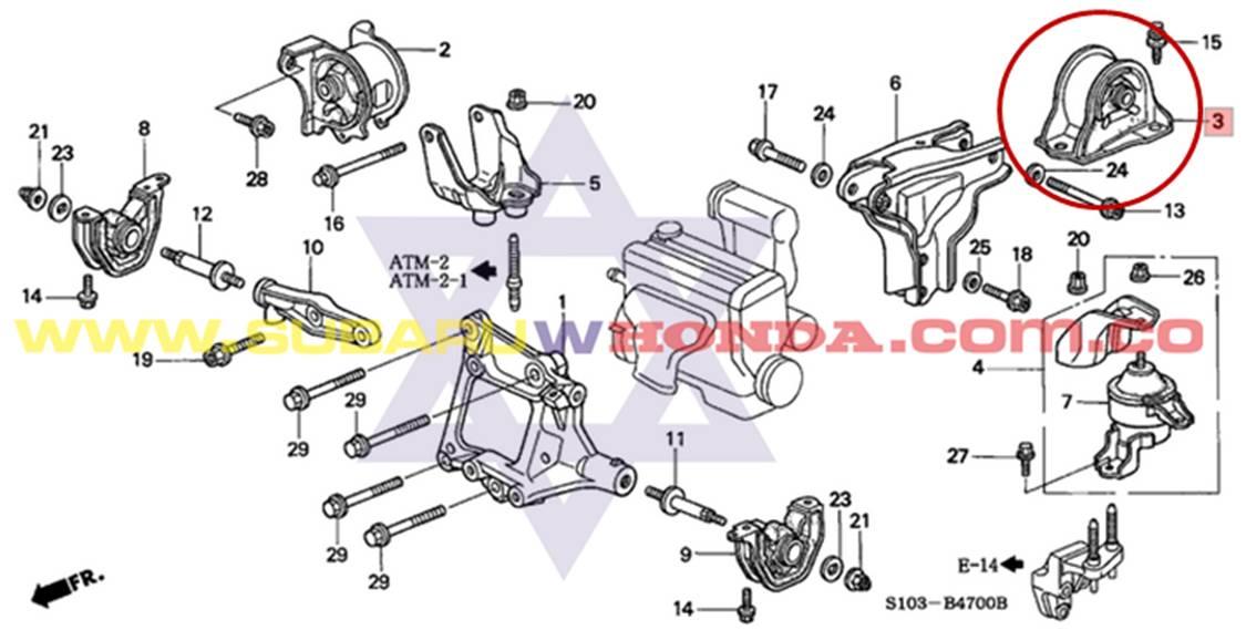 Soporte Motor Trasero Honda Crv 2000 Tachicar