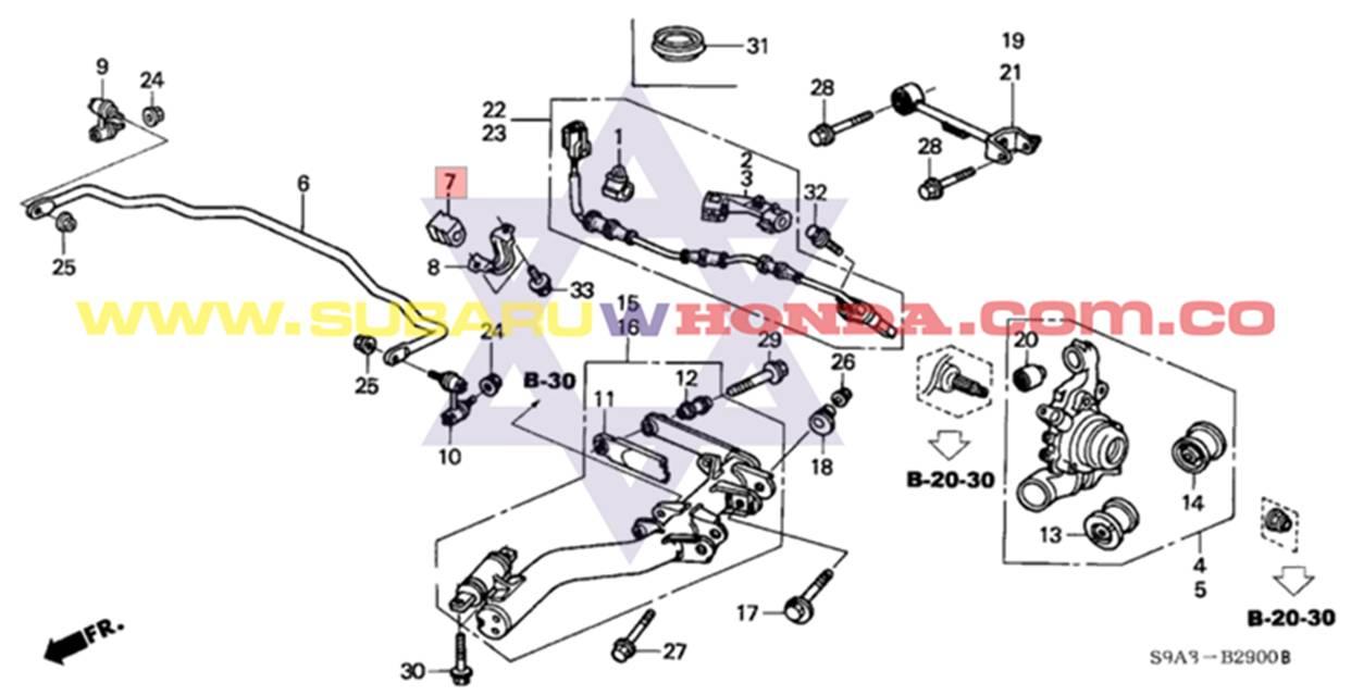 Bujes Traseros Barra Estabilizadora Honda Crv Catalogo