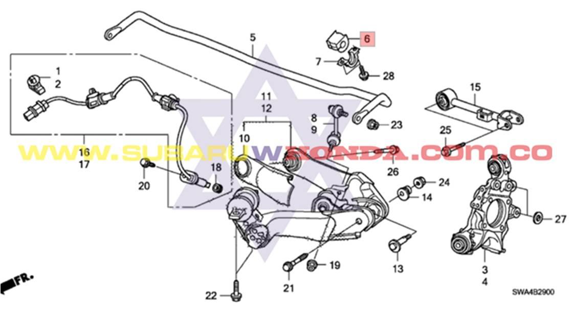 Bujes Traseros Barra Estabilizadora Honda Crv 2007 Tachicar