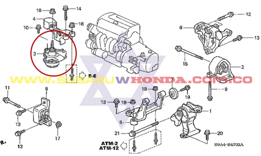 Soporte Motor Derecho Honda Crv 2006 Autom 225 Tica Tachicar