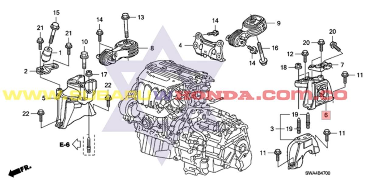 Soporte Motor Izquierdo Honda Crv 2009 Autom 225 Tica Tachicar