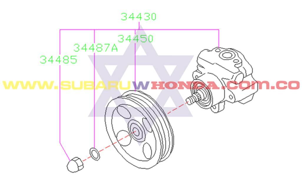 Bomba de direccion Hidraulica Subaru Forester 2000 catalogo