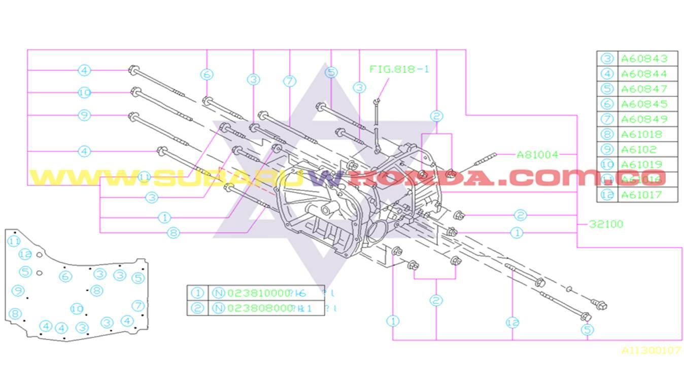 Caja de cambios automatica Subaru Forester 2000 catalogo