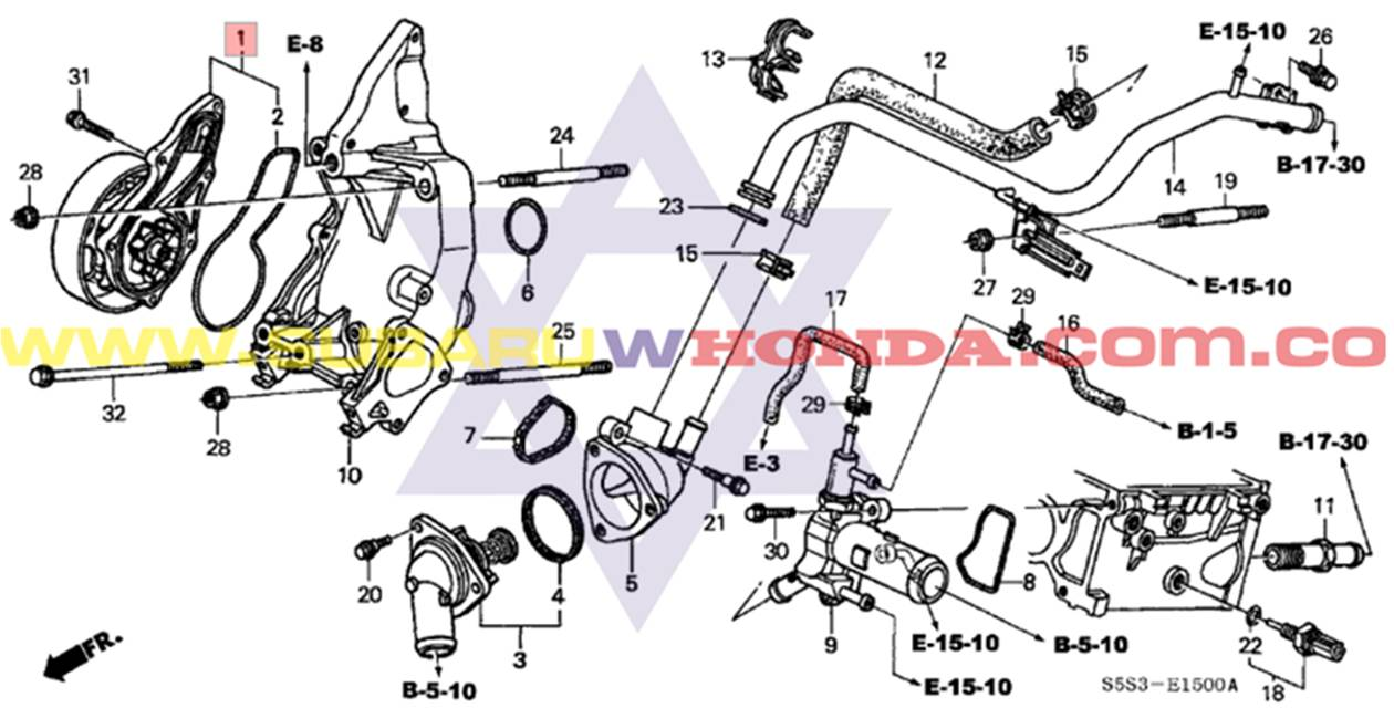 Bomba De Agua Honda Crv 2003 Awd 2 4 Automatica