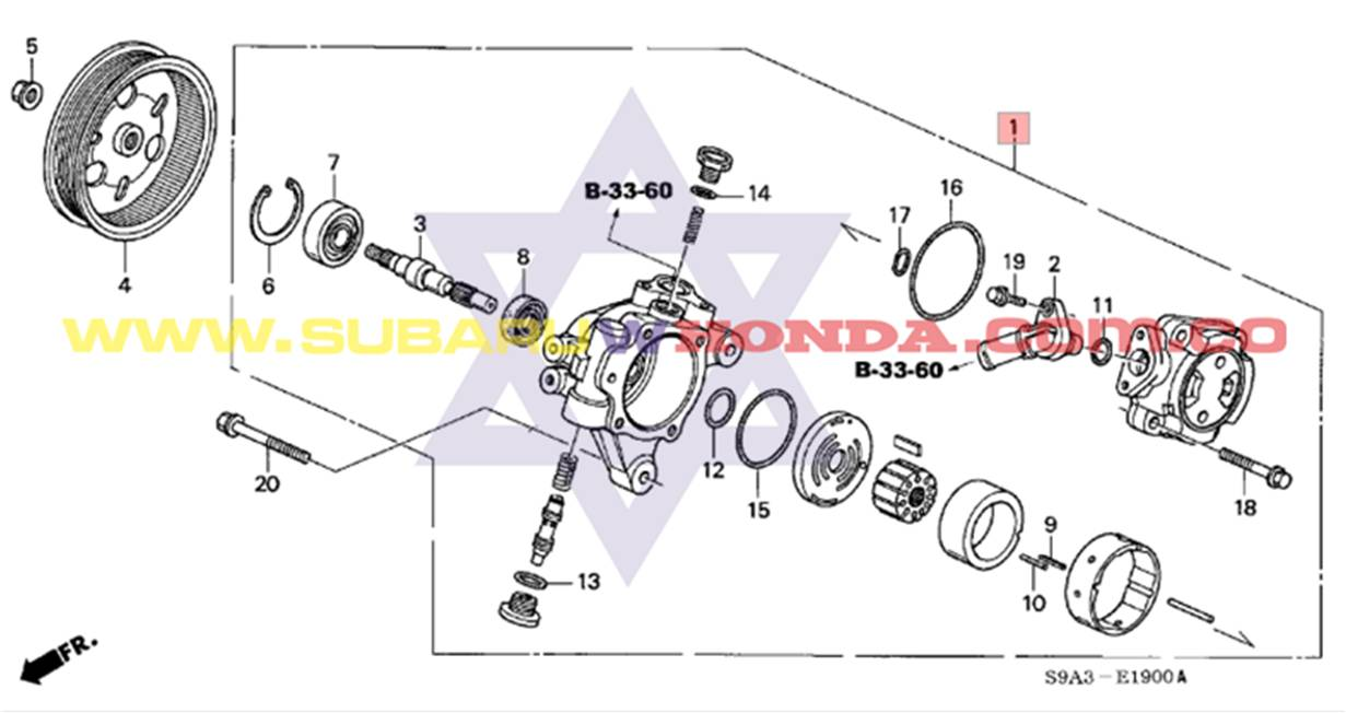 Bomba Direcci 243 N Hidr 225 Ulica Honda Crv 2005 Tachicar