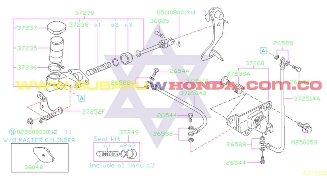 Bomba principal del Clutch Subaru Legacy 1994 catalogo