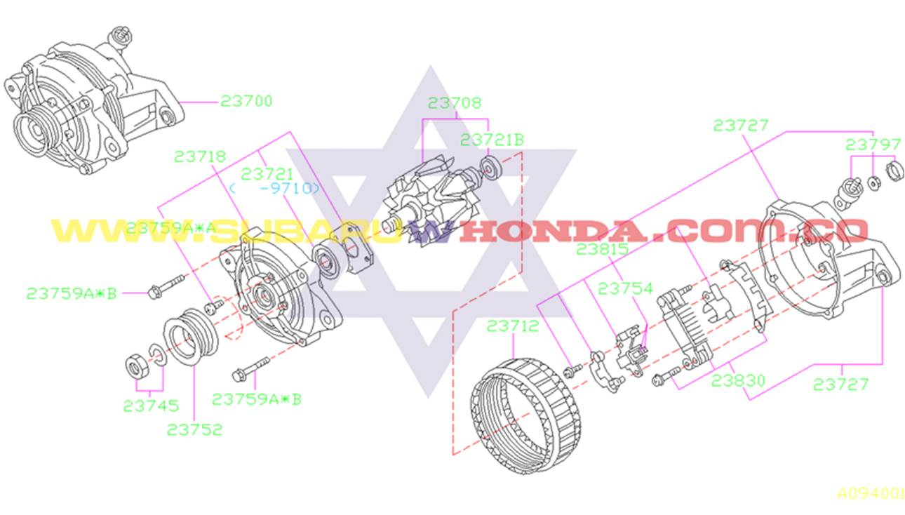 Alternador Subaru Forester 2001 catalogo
