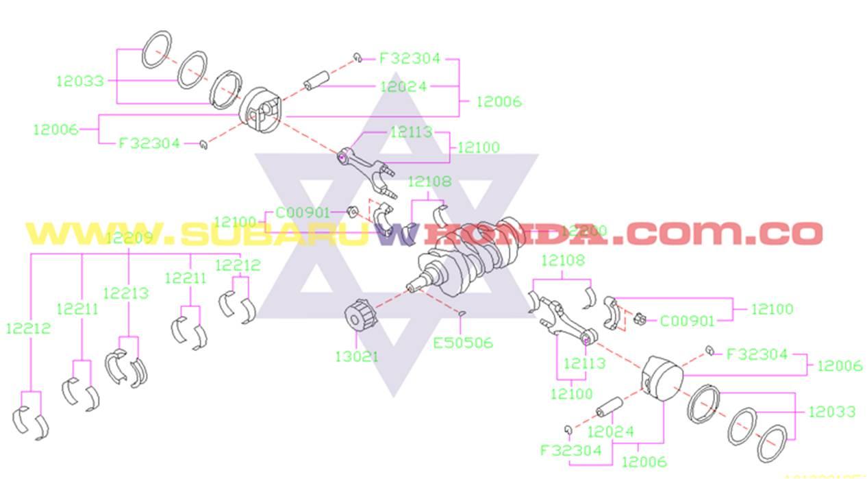 Anillos Subaru Forester 2002 catalogo