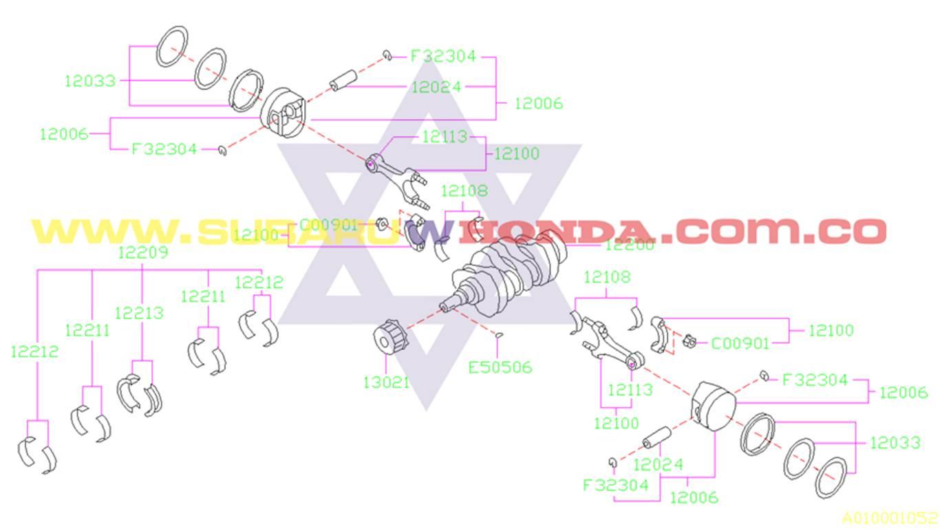 Bielas Subaru Forester 2002 catalogo