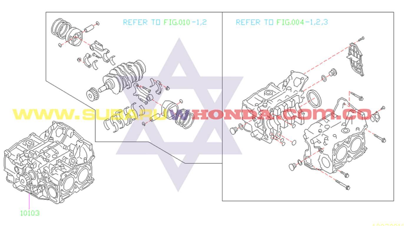 Bloque motor Subaru Forester 2001 catalogo