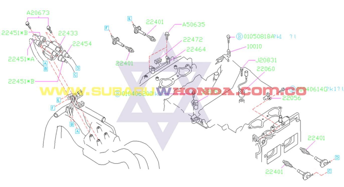 Bujías Subaru Forester 2001 catalogo