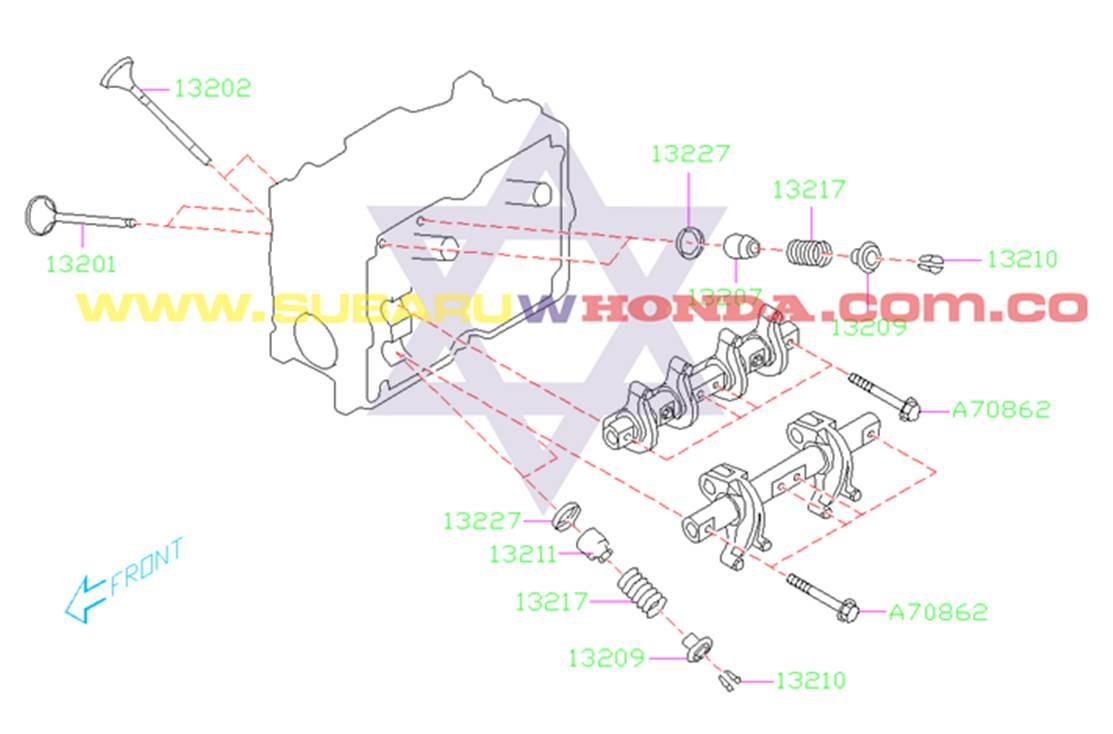 Cauchos válvulas Subaru Forester 2002 catalogo