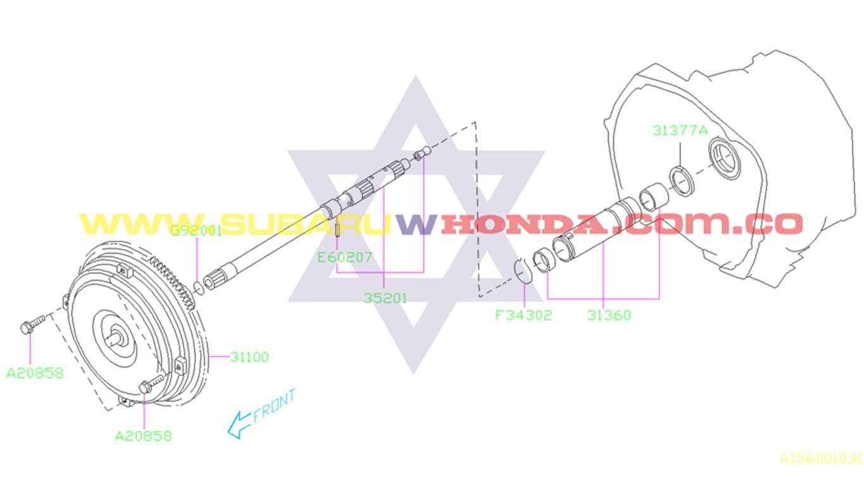 Convertidor motor Subaru Forester 2000 catalogo