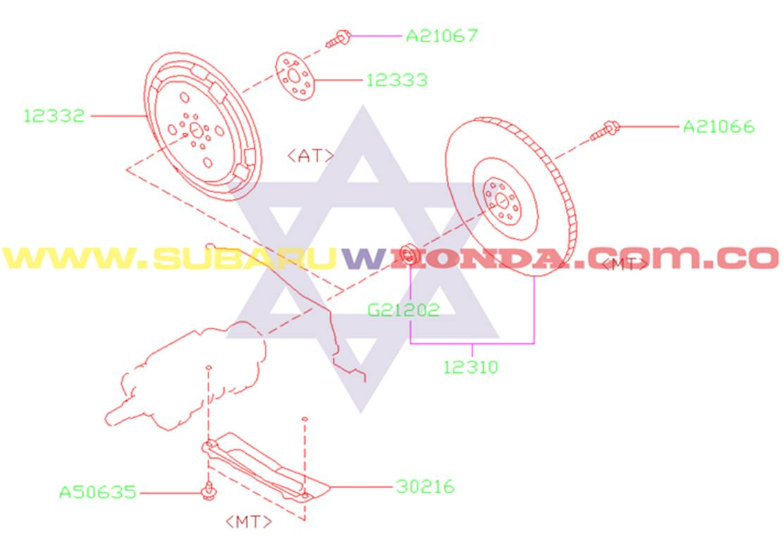 Disco plato de clutch automático Subaru Forester 2000 catalogo