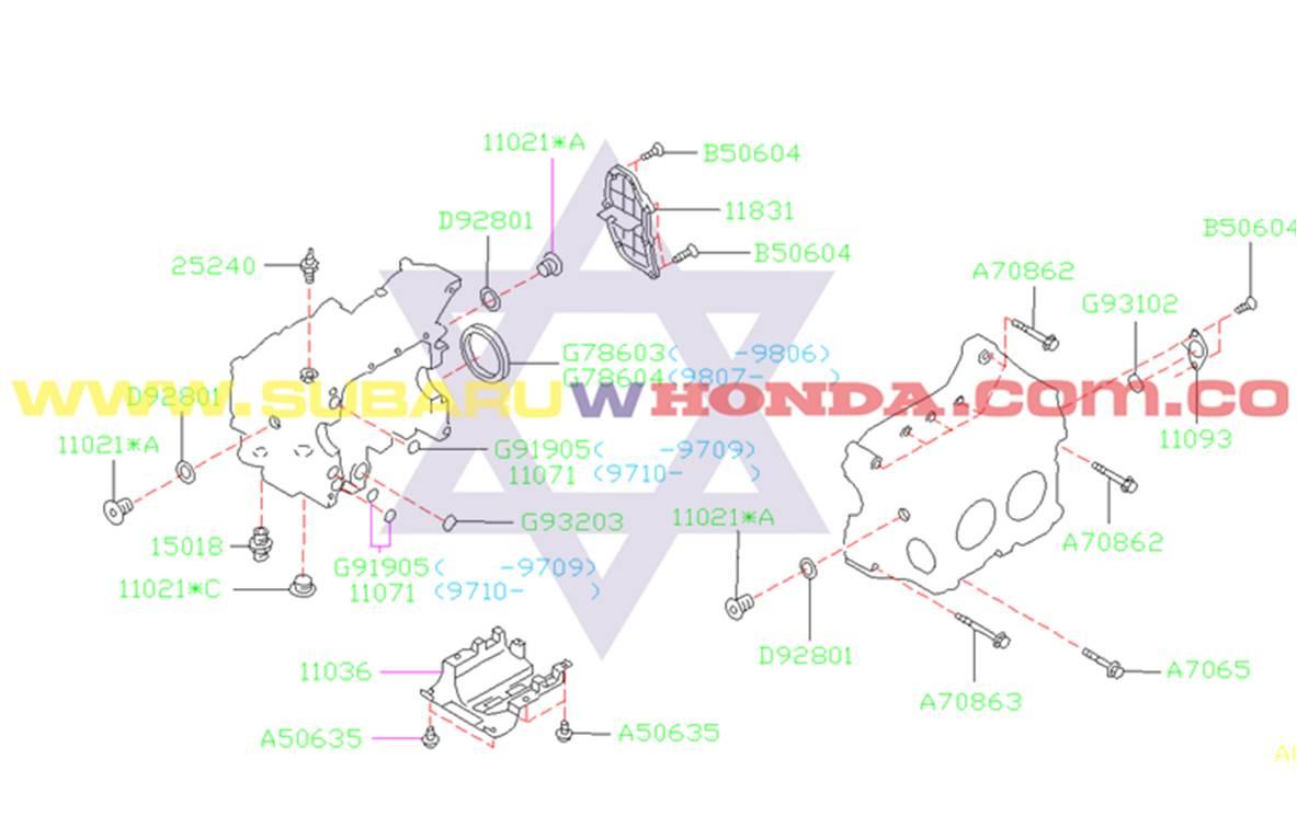 Empaquetadura motor Subaru Forester 2001 catalogo