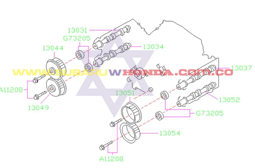 Retén eje de levas Subaru Forester 2001 catalogo