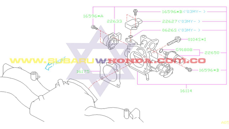 Sensor IAC Subaru Forester 2001 catalogo