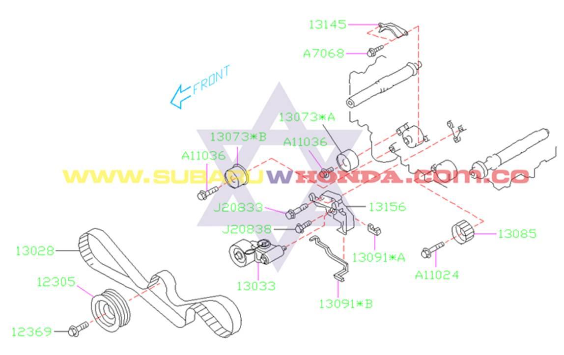 Tornillo polea cigueñal Subaru Forester 2001 catalogo