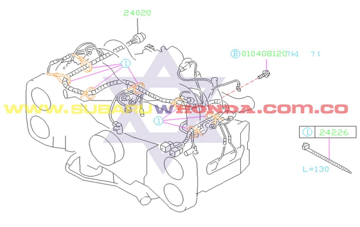 Siete Octavos 7/8 Motor de Subaru Forester 2000 catalogo