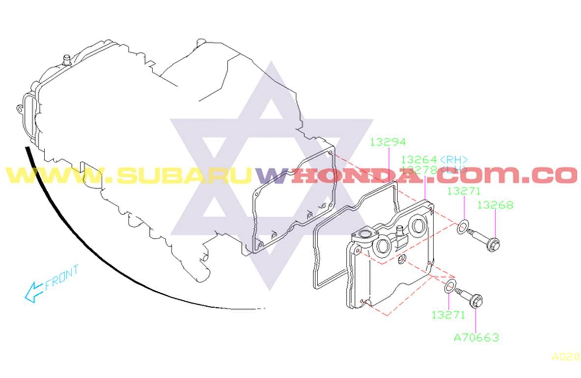 Empaque tapa válvulas Subaru Forester 2000 catalogo