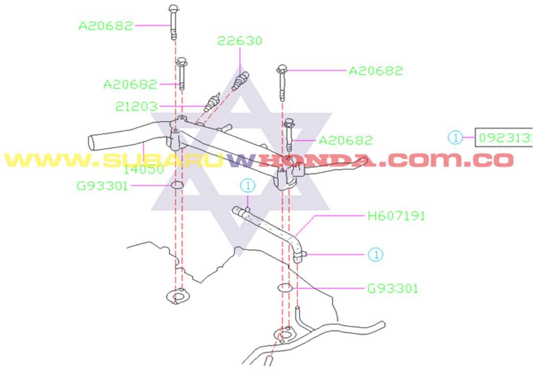 Pera termoswich Subaru Forester 2000 catalogo