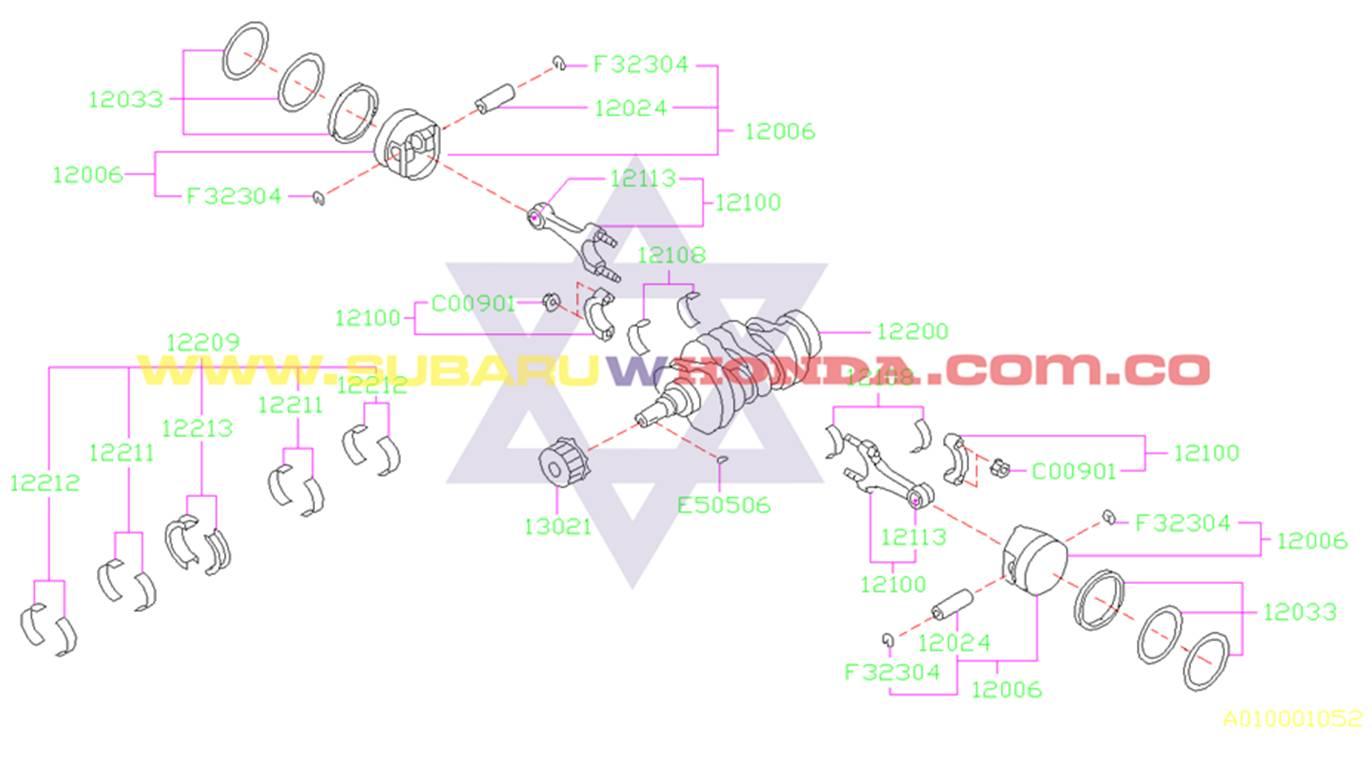 Piñon cigueñal Subaru Forester 2002 catalogo