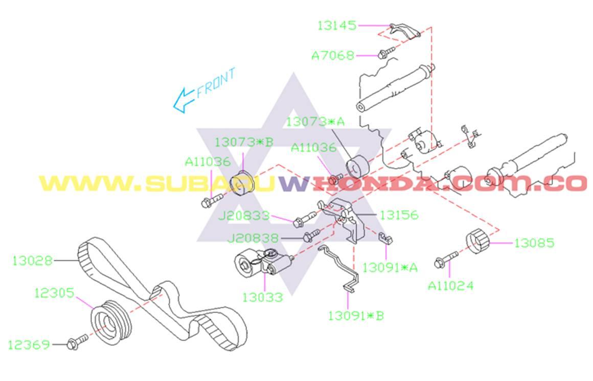 Polea cigueñal Subaru Forester 2002 catalogo