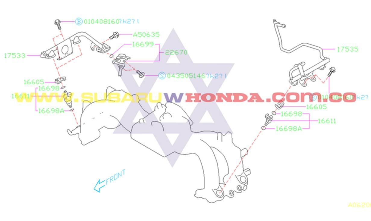 Regulador de gasolina Subaru Forester 2000 catalogo
