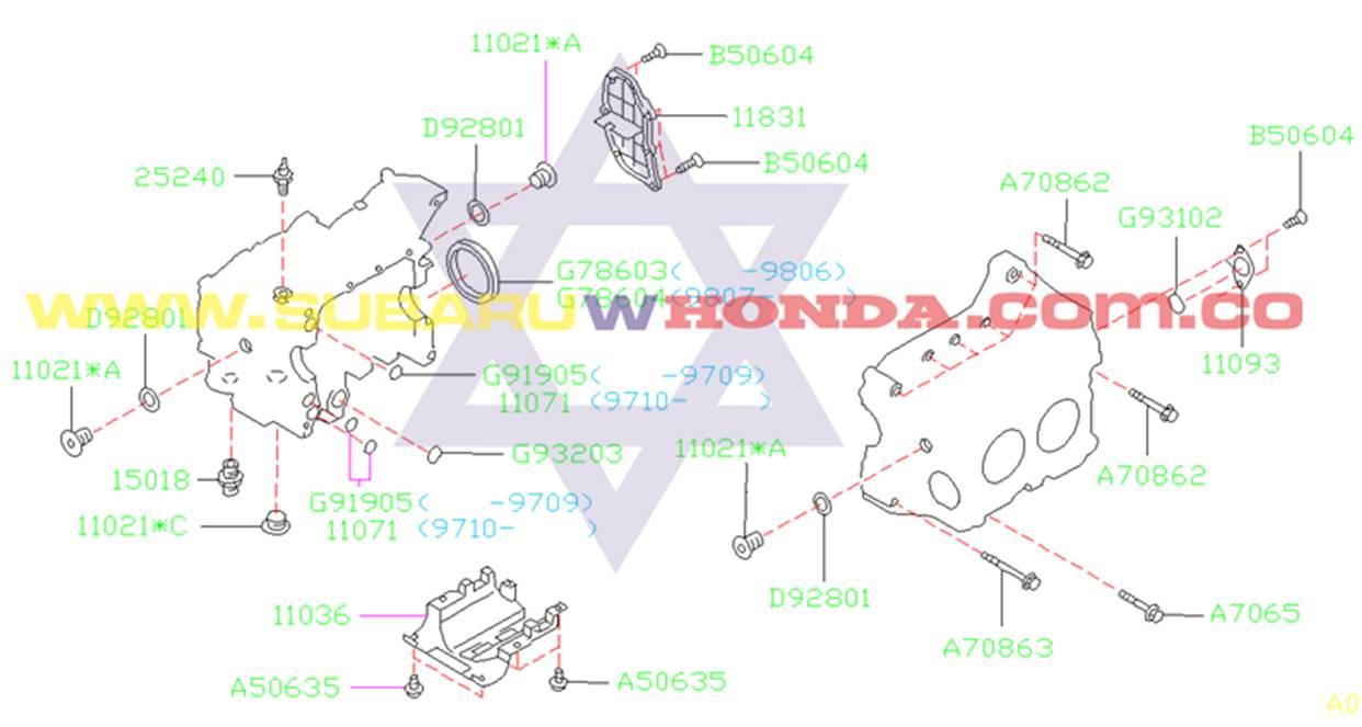 Retén volante Subaru Forester 2002 catalogo