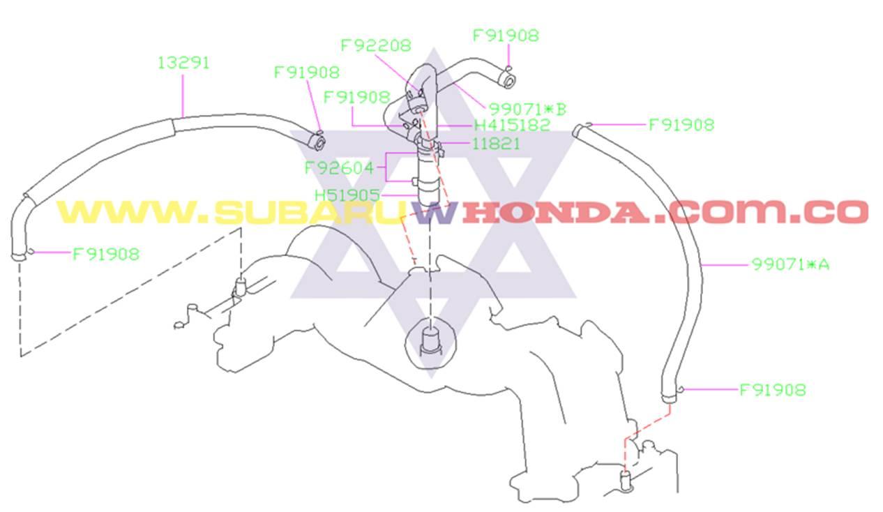 Sensor PCV Subaru Forester 2002 catalogo
