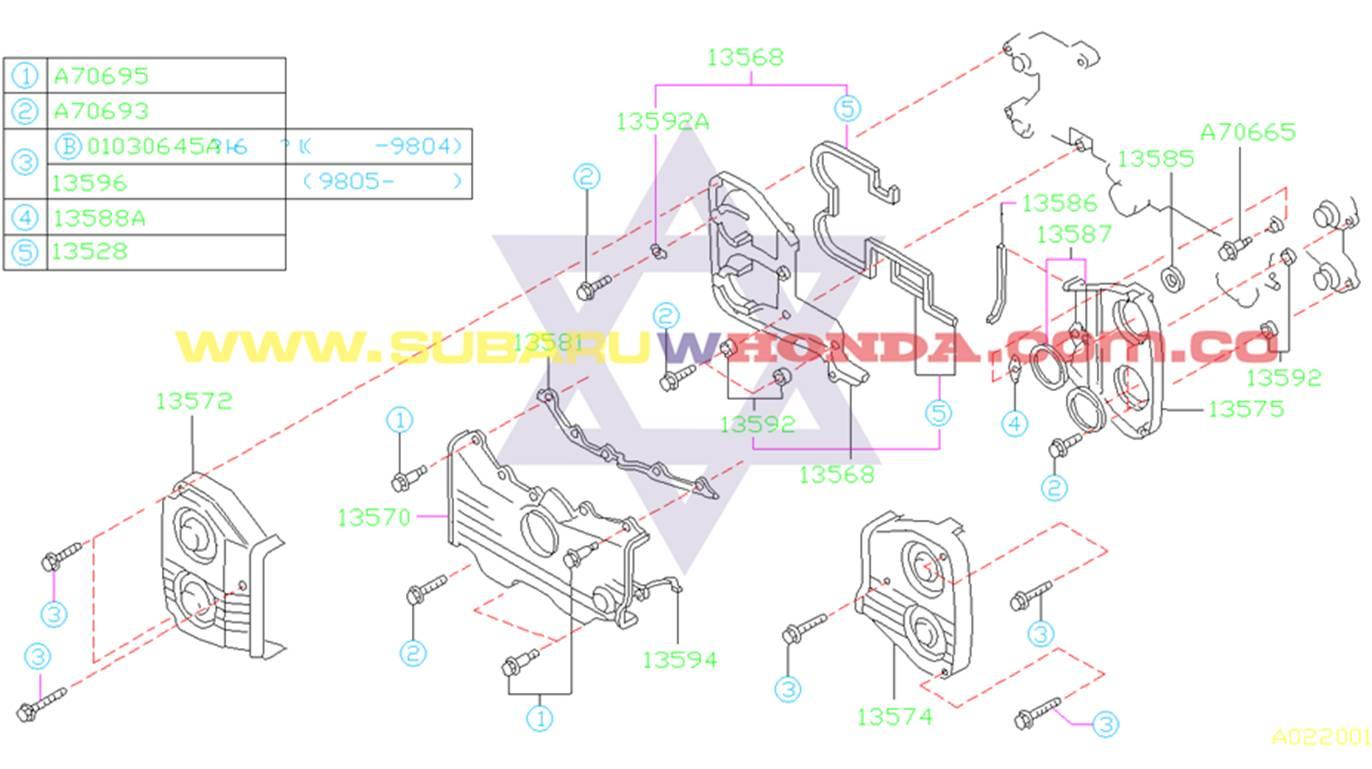 Tapa central repartición Subaru Forester 2002 catalogo