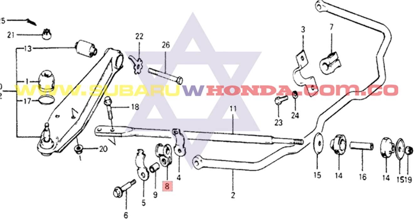 Cauchos barra tensora Honda Accord 1977 catalogo
