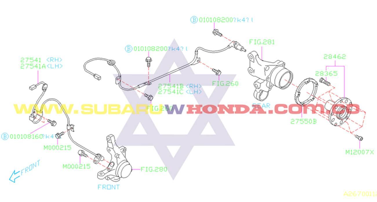 Bocín trasero Subaru Impreza 1996 catalogo