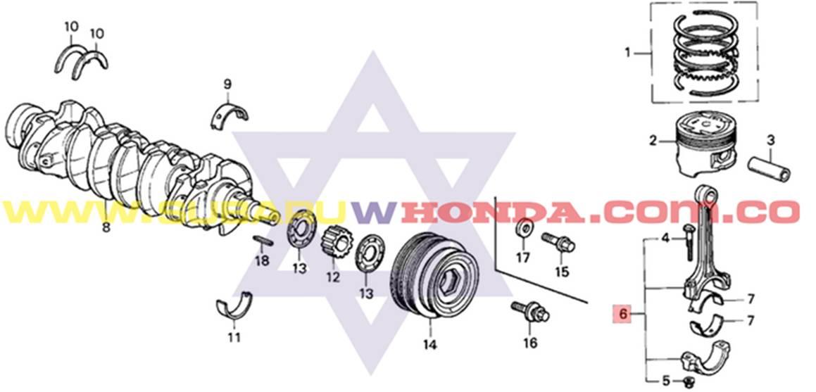 Bielas Honda Integra 1993 catalogo