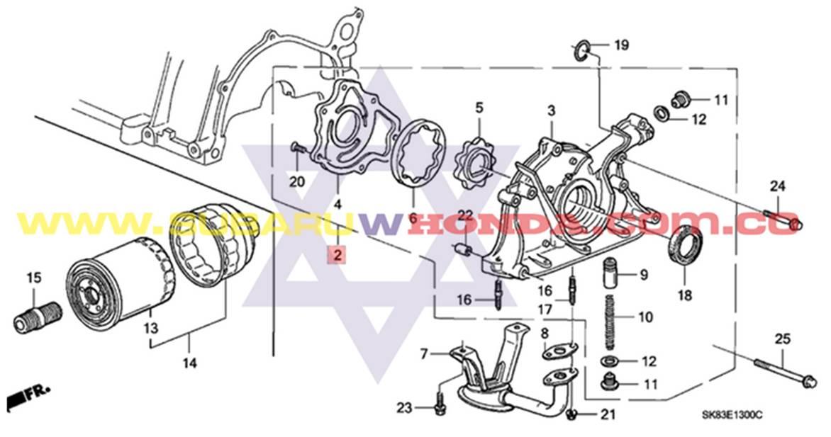 Bomba de aceite Honda Integra 1993 catalogo