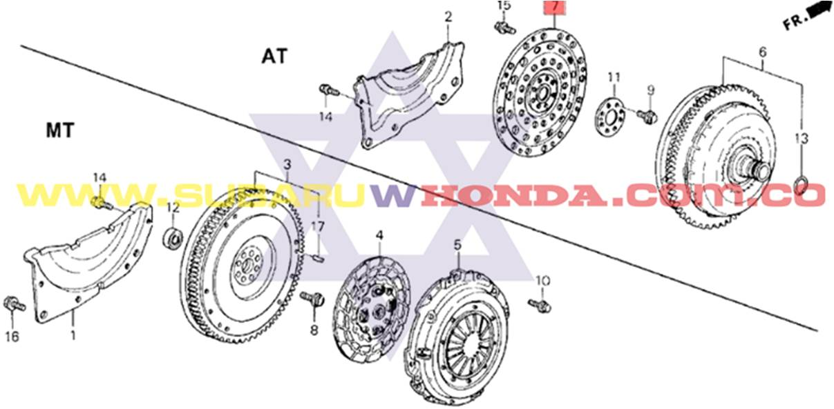 Disco plato clutch automatico Honda Integra 1993 catalogo