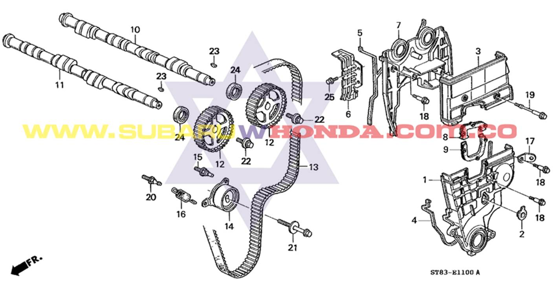 Eje de levas Honda Integra 1993 catalogo
