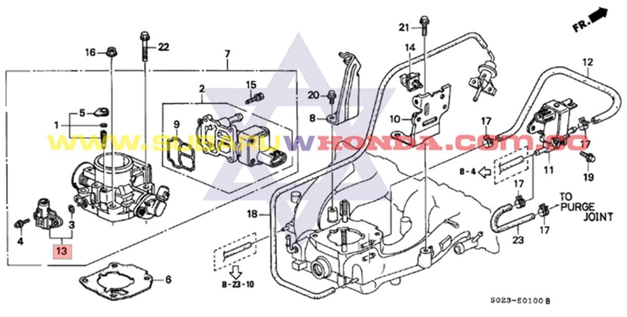 Sensor MAP Honda Integra 1993 catalogo